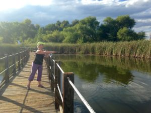 Katie fishing