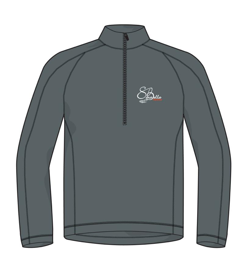 Men's Dark Grey 1/4 Zip shirt